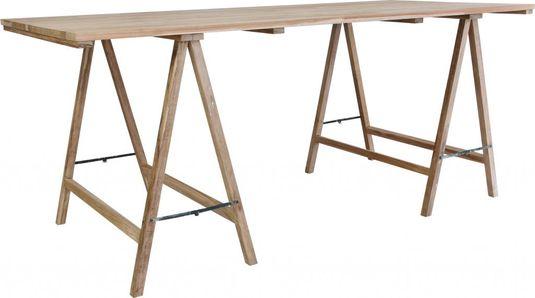 ≥ mooie houten tafel met schragen tafels overige marktplaats